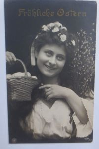 Ostern, Kinder, Mode, Nest, Eier,     1908 ♥ (69083)