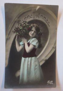 Neujahr, Kinder, Mode,  Blumen,  1918  ♥ (69033)