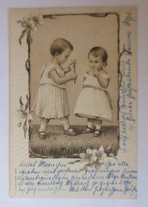 Kinder, Mode, Spielzeug,   1904, Prägekarte ♥ (57572)
