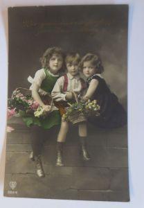 Namenstag, Kinder, Mode, Blumen,  1913 ♥ (68965)