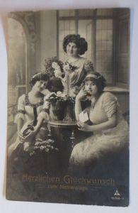 Namenstag, Frauen, Mode, Blumen,  1912 ♥ (68964)