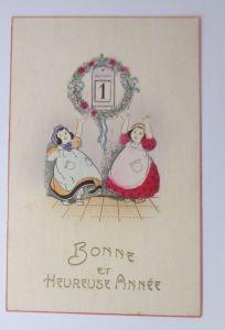 Neujahr, Kinder, Mode, Kalender, Biedermeier,    1912  ♥ (69546)
