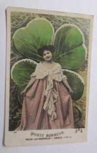 Neujahr, Frauen, Mode, Kleeblatt,    1912 ♥  (53342)
