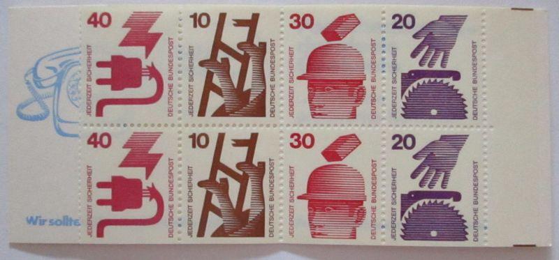 Bundesrepublik Markenheftchen Unfallverhütung MH 20 postfrisch (10467)