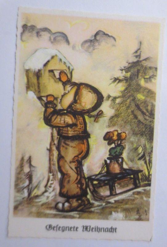 Kinder, Mode, Briefkasten, Brief, Schlitten,  1940 ♥ (49686)