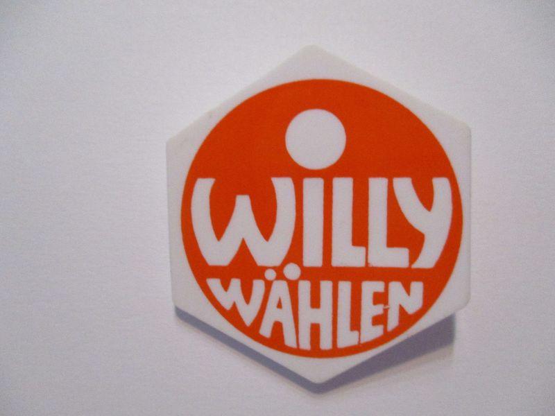 SPD Wahlkampf 1972 Willy wählen original Button Pin