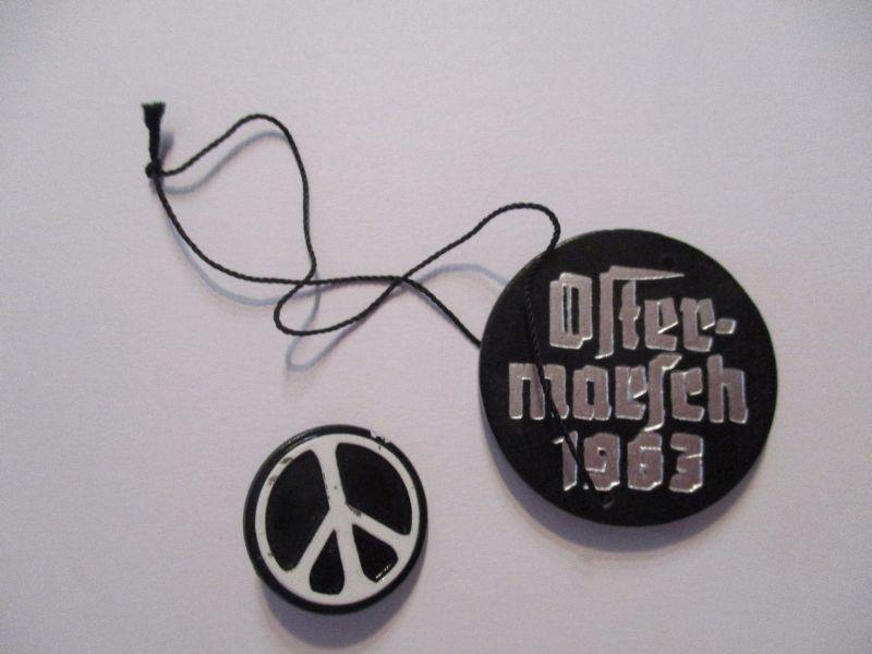 Friedensbewegung Ostermarsch 1963, 2 Anstecker Pin