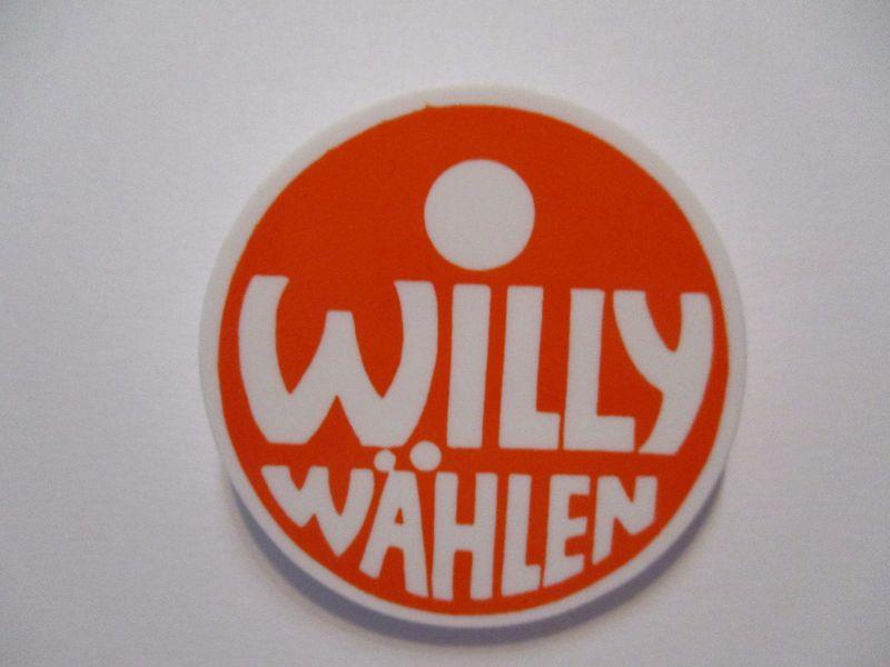 SPD Wahlkampf 1972 Willy wählen original Button Pin .