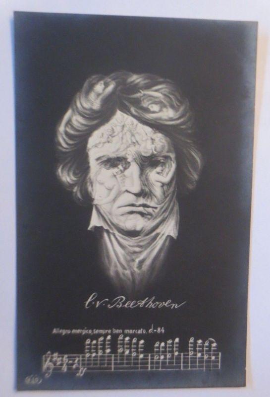 Künstlerkarte, L.v. Beethoven, Metamorphose, Frauen, Erotik,  1908 ♥ (69919)