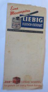 Werbung, Reklame, Zettel, Liebig Fleisch-Extrakt ♥ (70023)