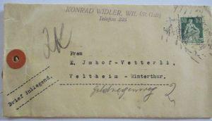 Schweiz, Warensendung Brief mit 50 rp Helvetia (57254)