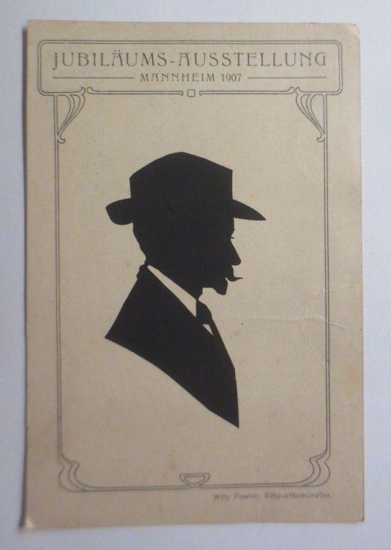 Original-Scherenschnitt, Jubiläums-Ausstellung Mannheim, 1907 ♥ (69750)