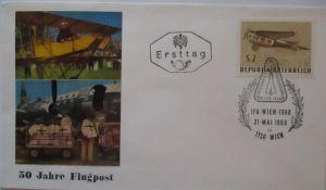 Österreich 50 Jahre Flugpost 1968 Sonderbrief (15943)