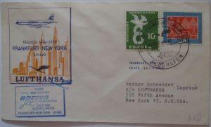 Lufthansa Erstflug Frankfurt New York 1960 (15733)