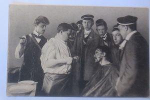 Heidelberg, Studenten, Studentika, Nach der Mensur Abitur,    1900  ♥ (69924)