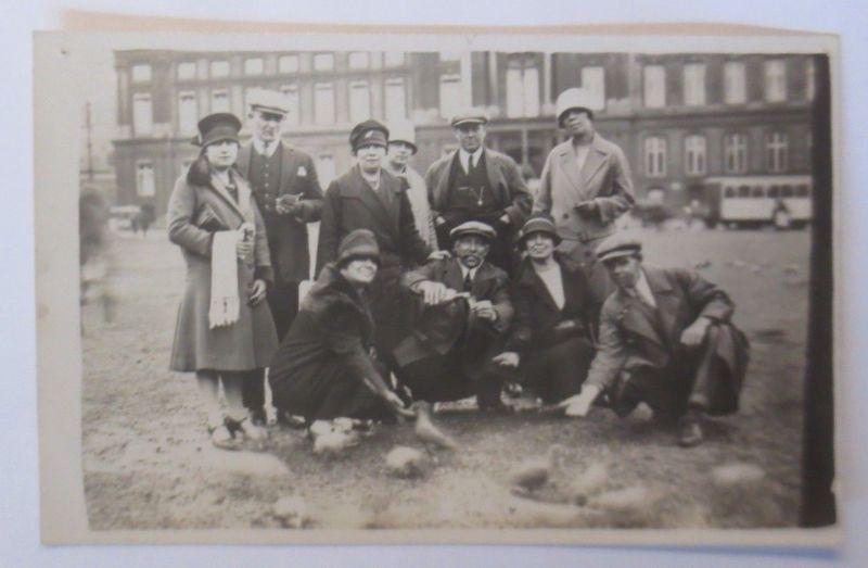 Tauben Verein, Männer, Frauen, Tauben,  1927, Fotokarte ♥ (70192)
