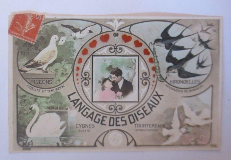 Vogel Sprache, Tauben, Schwan, Schwalbe,  1920 ♥ (70189)