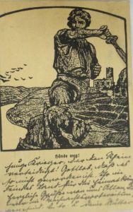 Neujahr, Männer,  Mode, Sekt, 1916 ♥ (11155)