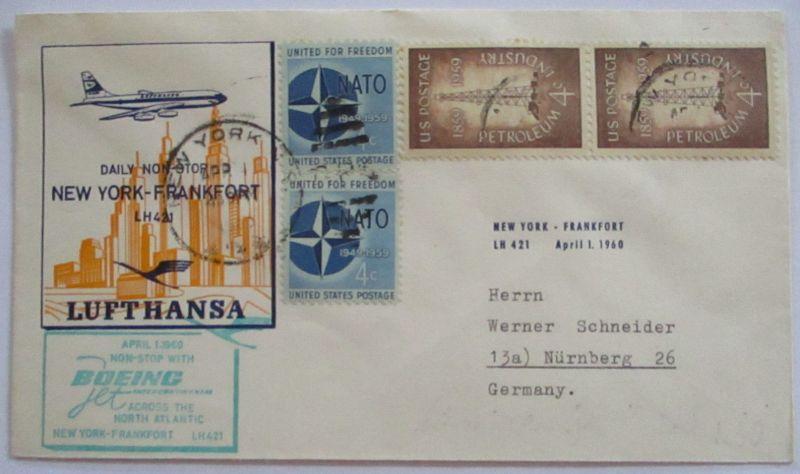 Lufthansa Erstflug New York Frankfurt 1960 (54897)