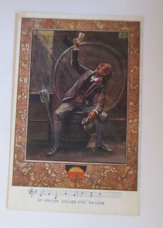 Deutscher Schulverein, Im Kühlen Keller sitz ich hier, Karte Nr.85, 1914♥(70261)
