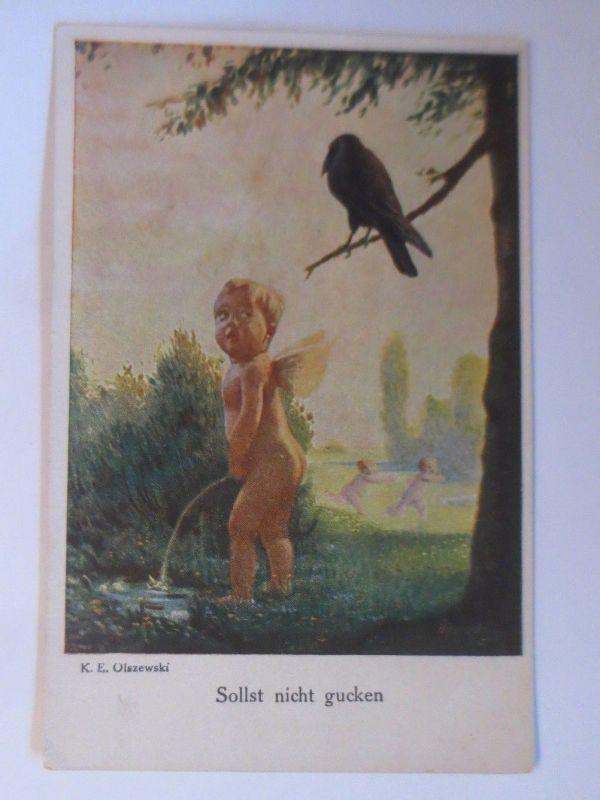 Elfe, Rabe, Sollst nicht gucken,  1918, K.E. Olszewski, Galerie München ♥(70171)
