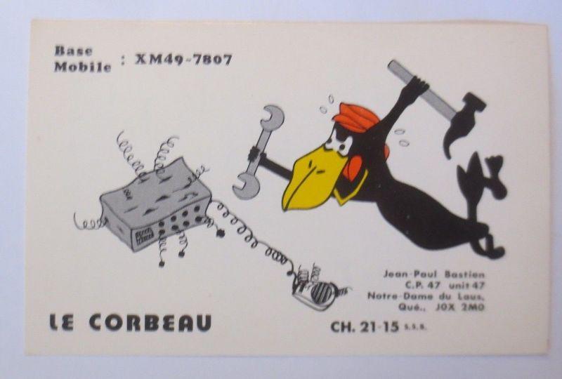 Werbung Reklame Rabe Le Corbeau Base Mobile 1950 70170 Nr