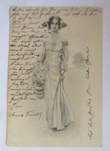 Frauen, Mode, Blumen, Jugendstil,  1904, Munk Vienne ♥ (29662)