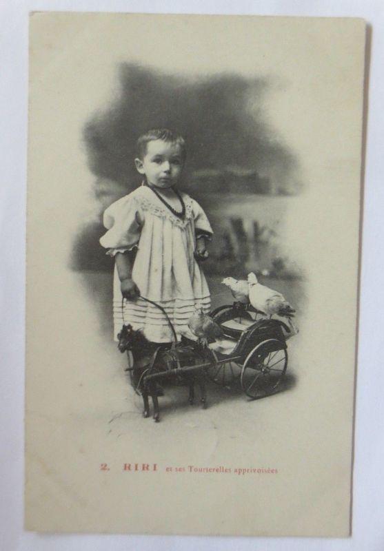 Kinder, Mode, Spielzeug, Kutsche, Tauben,   1908 ♥ (70072)