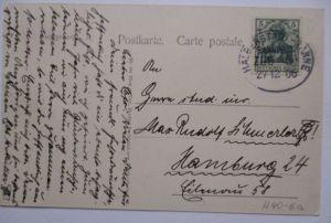 D.Reich, Bahnpost Halberstadt Tanne Zug 5 AK Blankenburg 1906 (37059)