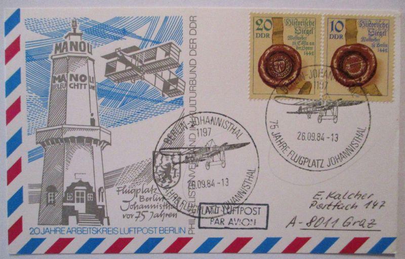Flugzeuge Luftfahrt, Zeppelin  75 Jahre Flugplatz Berlin Johannisthal (60731)