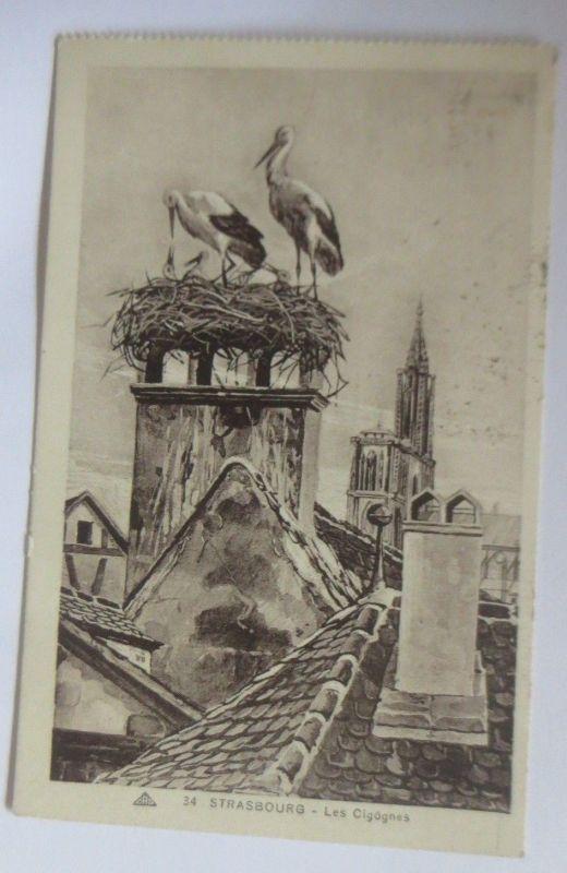 Storch, Klapperstorch, Strasborg-Les Cigognes, Strassburg,  1932 ♥ (70134)