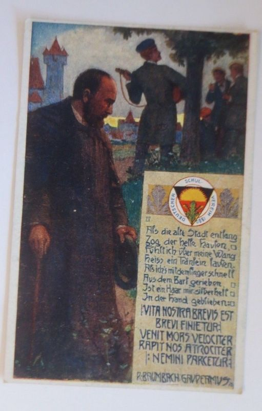 Deutscher Schulverein, Studentika, R. Baumbach Gaudeamus,  Nr. 239, 1912♥(68955)