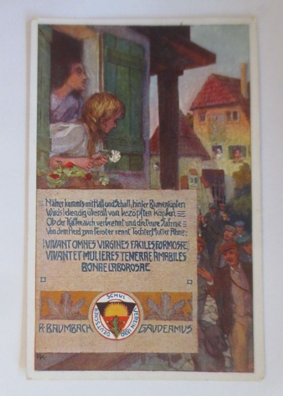 Deutscher Schulverein, Studentika, R. Baumbach Gaudeamus,  Nr. 238, 1912♥(68946)