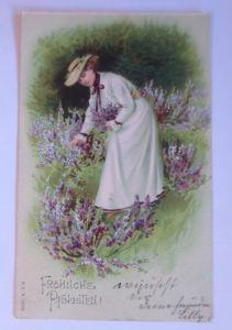 Pfingsten, Frauen, Mode, Blumen,   1903  ♥ (6301)