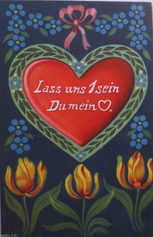 Valentinstag Herz Blumen Spruch 1910 24965 Nr 24965