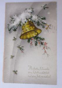 Neujahr, Glocken, Tannenzweig,  1934  ♥ (67948)