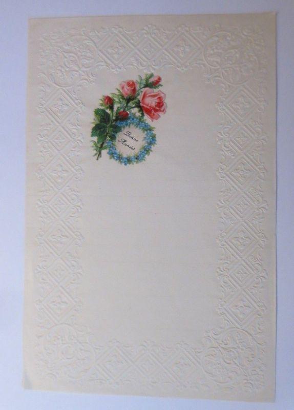 Briefpapier mit Oblate aus dem Jahr 1888, Ungebraucht ♥ (22K)