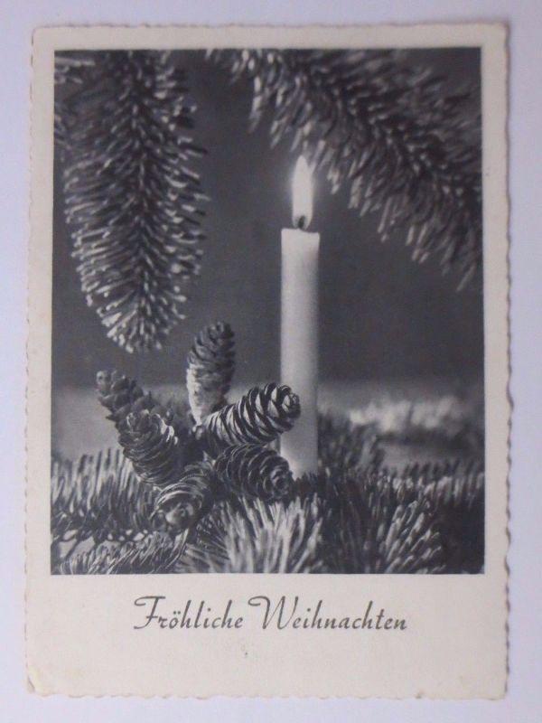 Weihnachten, Kerze, Tannenzweig, 1958 ♥ (62841) Nr. 62841 ...