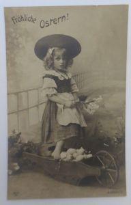 Ostern, Kinder, Mode, Schubkarre, Eier,    1908 ♥ (8914)