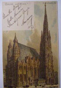 Gruss aus Wien, Stefanskirche, 1898 (23809)