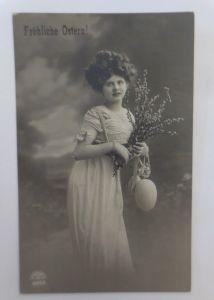 Ostern, Frauen, Mode, Weidenkätzchen, Osterei,    1911 ♥ (24706)