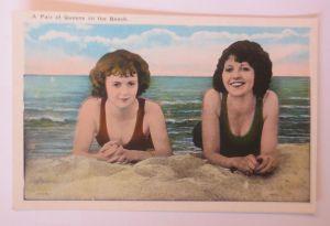 Bademoden, Frauen, Meer, 1930  ♥ (68492)