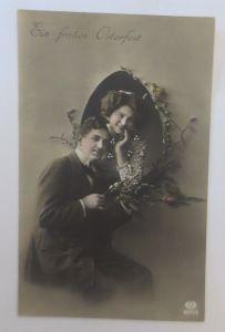 Ostern, Frauen, Männer, Mode, Weidenkätzchen,  1907 ♥ (28945)