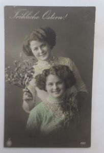 Ostern, Frauen, Mode, Weidenkätzchen,   1912 ♥ (78)