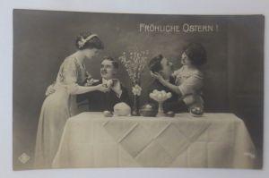 Ostern, Männer, Frauen,  Mode, Weidenkätzchen, Ostereier 1909  ♥ (5070)