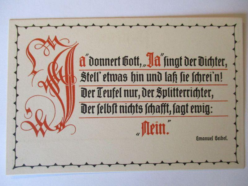 Klingspor Karte 600 Spruche Goethe Xenien Falschheit Nur 46031