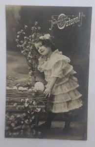 Ostern, Kinder, Mode, Weidenkätzchen, Ostereier,   1910 ♥ (37329)