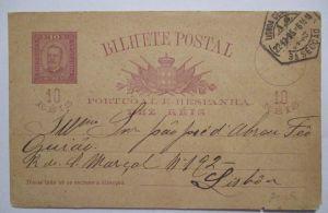 Portugal Ganzsache 1895 Ortskarte Lisboa (380)