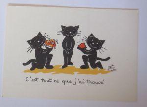 Karikatur, Biz, Katzen, Herz,     1960 ♥ (66194)