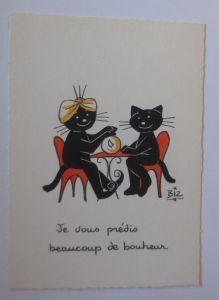 Karikatur, Biz, Katzen, Wahrsager,     1960 ♥ (66192)